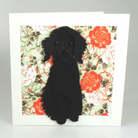 Springer Spaniel Dog Card, Blank inside, Birthday, Greeting, Universal card,