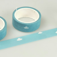 Blue Sky & Fluffy Clouds, Decorative Washi Tape, Cards, Crafts,Tape, 5m
