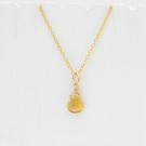 Citrine Briolette Pendant on Gold Chain