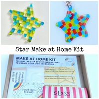 Fused Glass Star Make at Home Kits, suitable for all ages