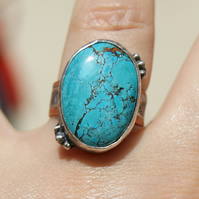 Blue Stone Ring, Turquoise Jewellery