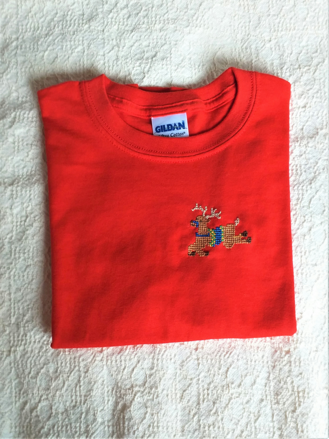 Reindeer T-shirt Age 6 (XS Youth)