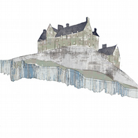 Edinburgh Castle Mixed Media Art Print (camouflage)