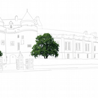 Falkland Palace (line drawing)