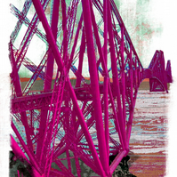 Forth Rail Bridge (pink)
