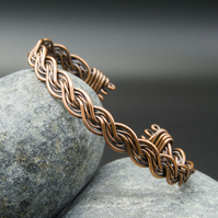 Double Twisted Copper Bracelet