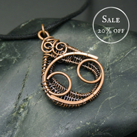 SALE - Copper Star Sign Pendant - Cancer - Crab