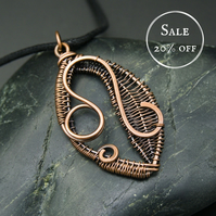 SALE - Copper Star Sign Pendant - Leo - Lion
