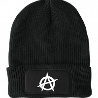 FatCuckoo -  Anarchy Sign, Iconic Punk Logo Unisex Winter Thinsulate Beanie Hat