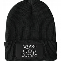 FatCuckoo -  Never Stop Lurning, Silly Unisex Winter Thinsulate Beanie Hat
