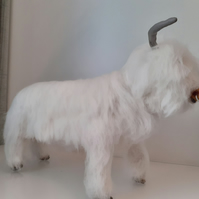 Highland Bull needle felted wool sculpture ooak,collectable