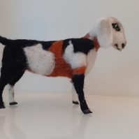 Anglo-Nubian goat sculpture needle felted wool ooak,collectable