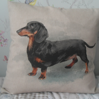 Dachshund Sausage Dog Cushion Cover