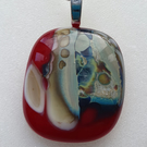Fused Glass Necklace 'Reactions in Glass'