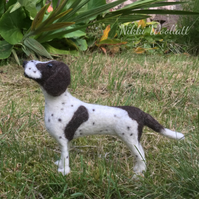 Needle Felted English Pointer Dog Sculpture