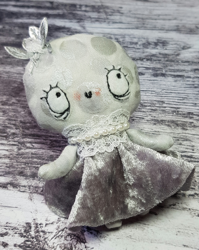 Handmade Miniature Moon Doll, Elara