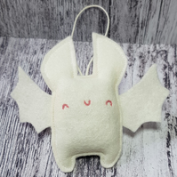 Halloween White Bat Hanging Decoration