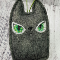Halloween Black Cat Felt Hanger