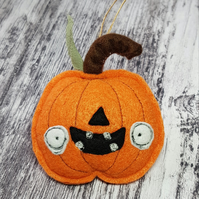 Halloween Pumpkin Felt Orange Hanger