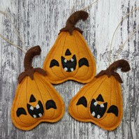 Halloween Pumpkin Felt Copper Hanger