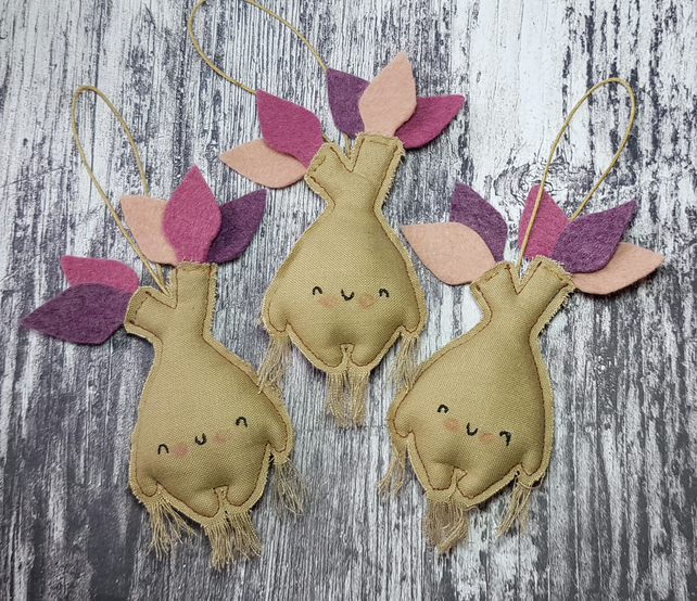 Plum Mandrake Hanging Decoration