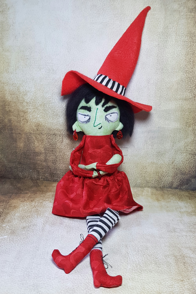 Handmade Art Doll Witch, Agnes