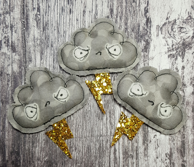 Grumpy Lightening Cloud Hanger or Brooch