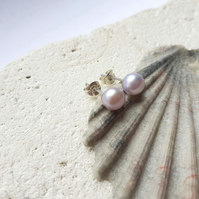 5-6mm Lilac Freshwater Pearl Studs