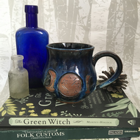 Wheel Thrown Mug - Triple Moon