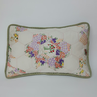 Upcycycled vintage embroidery cushion