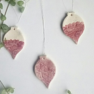 Set of 3 ceramic Christmas decorations