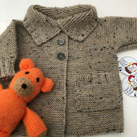 Button up baby! Hand made cardigan for baby 6-12 months