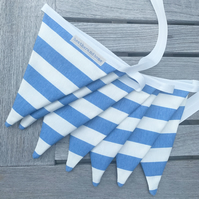 GARDEN BUNTING - stripes - blue, red, pink or green