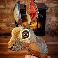 Faux hare head in vintage circus fairground Harlequin - Houdini