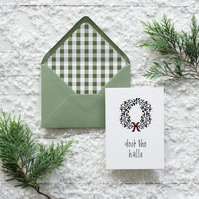 Deck the Halls, hand lettered luxury Christmas card set