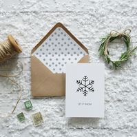 Let it Snow,  luxury Christmas card set