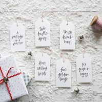 12 Days of Christmas, Luxury Gift Tags