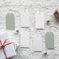 Farmhouse Christmas Pattern, luxury Christmas gift tags