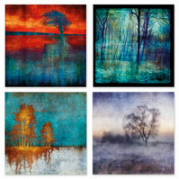Collection of 12 Landscape Art Greetings Card