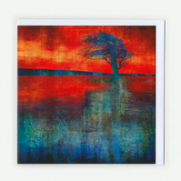 Fire Pond - Greetings Card