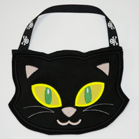 Trick or treat cat themed bag