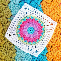 Sunny Sunday Square CROCHET PDF PATTERN