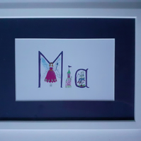 Original  Baby Name Print MIA