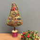 Folk inspired Christmas tree - short  cyclamen