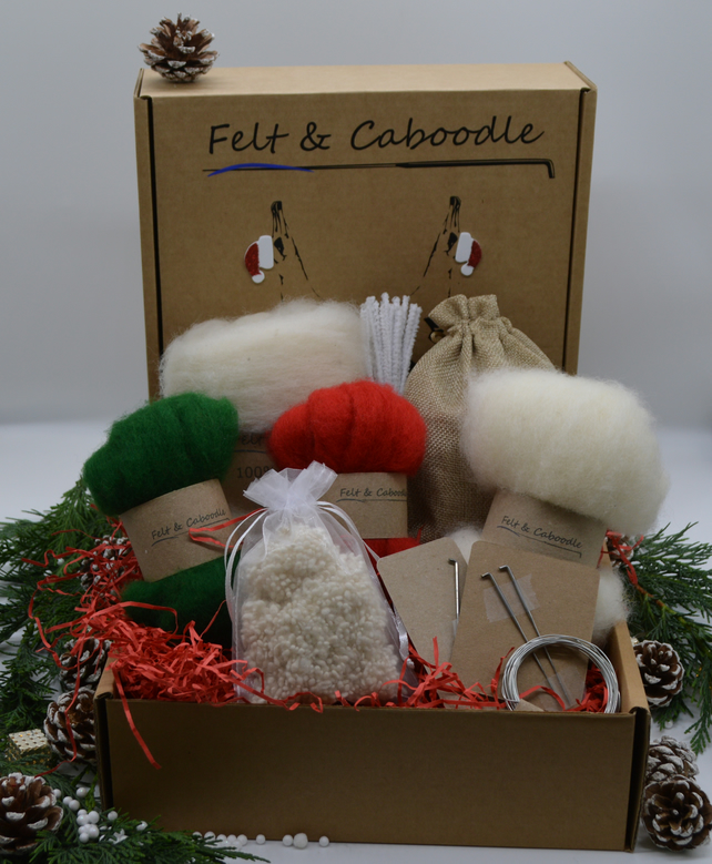Christmas needle felting starter kit