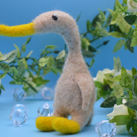 Needle felted Walking duck