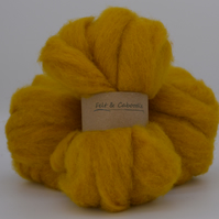Gold Carded Corriedale wool fibre