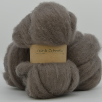 Pewter Carded Corriedale wool fibre