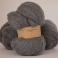 Granite Carded Corriedale wool fibre