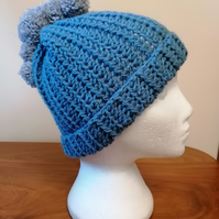 Blue and Silver Mowhawk Hat